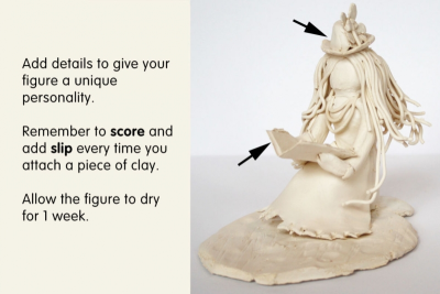 SEATED CLAY FIGURE – Proportion, Texture, Space - Step Ten