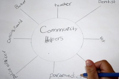 LENDING A HAND – Community Helpers - Step Four