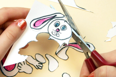 CUT-OUT PAPER ANIMATION – Creating a Jointed Figure - Step Four