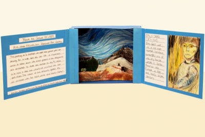 INSPIRED BY EMILY CARR –Canadian Artist, Tunnel Book - Step Thirteen