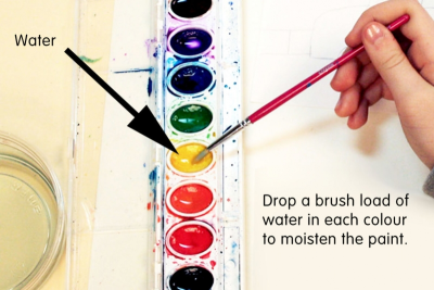 CITY SETTING – Experimental Watercolour Techniques - Step Two