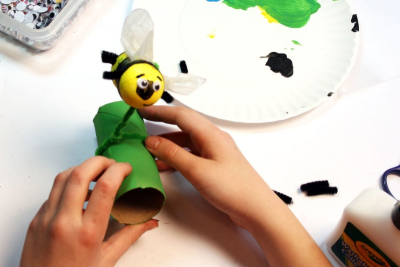 BUZZY BEE – Creating a Kazoo Puppet - Step Sixteen