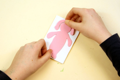 HAPPY EASTER! –Printmaking, Repetition, Colour - Step Four