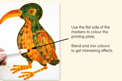 RELIEF PRINTS –Marker and Craft Foam - Step Two