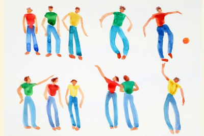 SIMPLE WATERCOLOUR PEOPLE – Shape, Gesture - Step Five