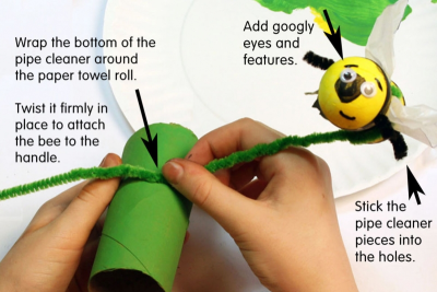 BUZZY BEE – Creating a Kazoo Puppet - Step Nine