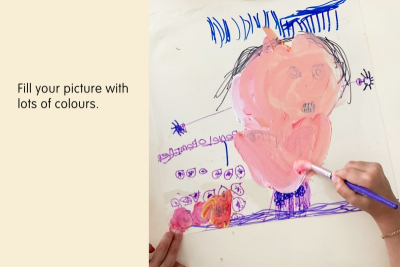 PICTURE A STORY –Colour Mixing, Line, Detail - Step Three