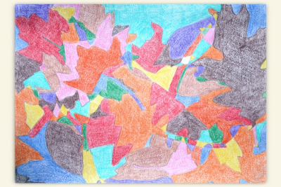 ALL THOSE CRAZY LEAVES – Composition, Shape, Colour - Step Three