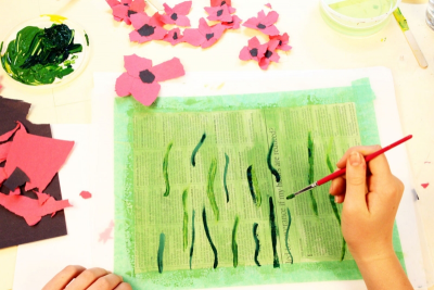 REMEMBRANCE DAY – Mixed Media, Contrast, Rhythm - Step Four