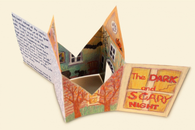 HAUNTED HOUSE TALES – Bookmaking, Shape, Contrast - Step Ten