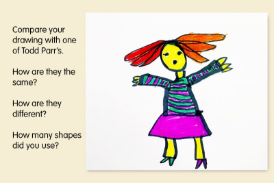 INSPIRED BY TODD PARR –Colour, Geometric Shapes, Pattern - Step Four