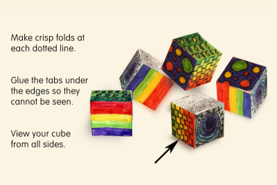 PATTERN CUBE –  Hexahedron, Pattern, Space - Step Three
