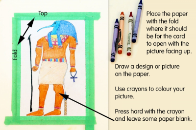 CRAYON RESIST CARD – Colour, Contrast, Shape - Step Three