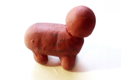 CREATING A STANDING ANIMAL –Modeling Clay - Step Four