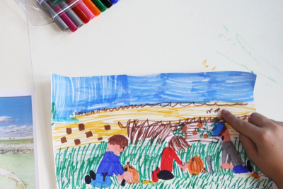 WILLIAM KURELEK – Looking at Art, Drawing from Memory - Step Four