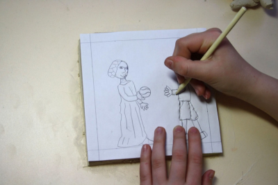 GAMES THEN AND NOW – Clay Relief Sculpture - Step Seven