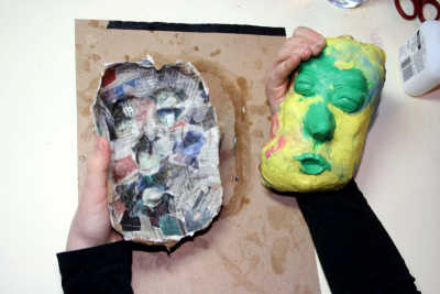 PAPIER-MÂCHÉ MASK – Form, Pattern, Contrast - Step Ten