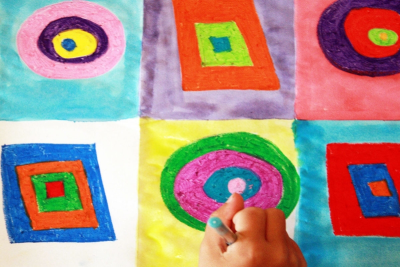INSPIRED BY KANDINSKY – Concentric Shapes, Colour - Step Four