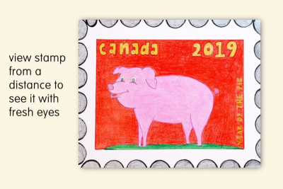 DESIGNING A POSTAGE STAMP – Chinese New Year, Symbolism - Step Four