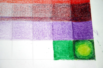 EXPLORING CRAYONS – Gradation, Sgraffito - Step Seven