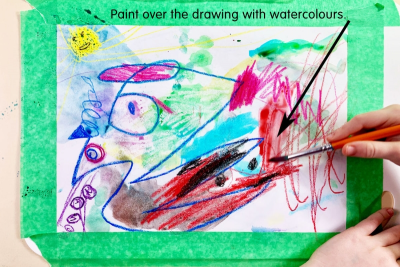 PAINTING EMOTIONS –Line, Colour, Shape - Step Two