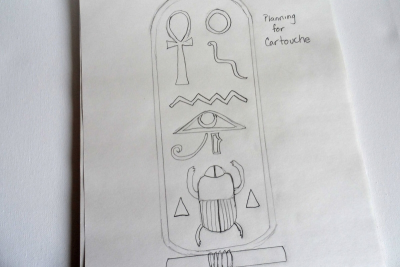 EGYPTIAN CARTOUCHE – Clay, Composition, Colour - Step One