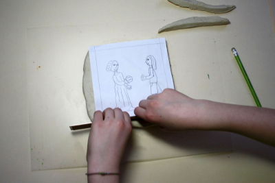 GAMES THEN AND NOW – Clay Relief Sculpture - Step Five