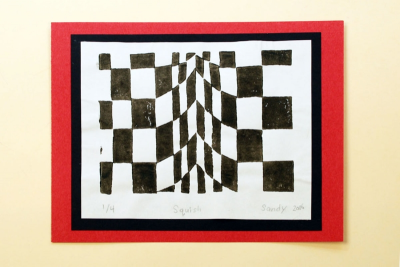 OP ART PRINTS – Using Geometry to Fool the Eye - Step Eight
