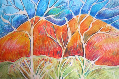 MIXED MEDIA LANDSCAPE – Group of Seven, Colour - Step Six