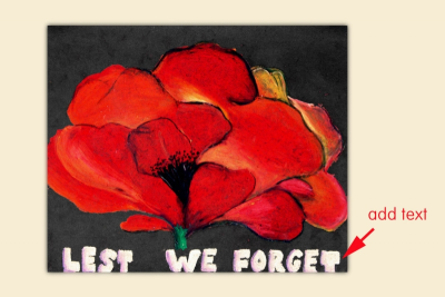 REMEMBRANCE DAY POPPY – Inspired by Georgia O'Keeffe - Step Three