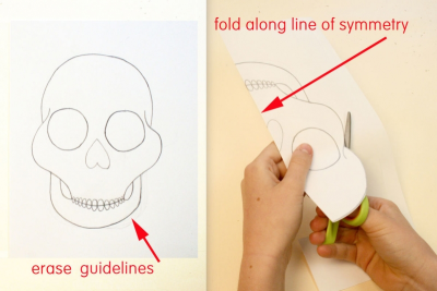 DAY OF THE DEAD SUGAR SKULL –Symmetry, Repetition, Colour - Step Three