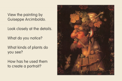 ROOT VEGETABLE PORTRAIT – Inspired by Giuseppe Arcimboldo - Step One