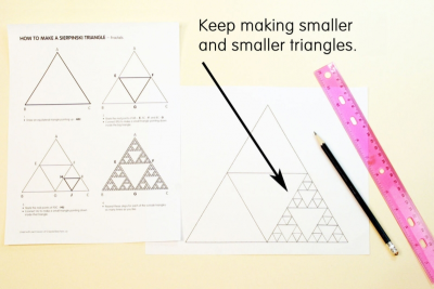 SIERPINSKI TRIANGLE – Fractals, Colour Schemes, Repetition - Step One