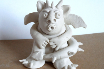 CLAY GARGOYLE – Form, Proportion, Exaggeration - Step Five
