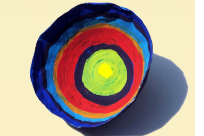 PAPIER-MÂCHÉ KANDINSKY BOWL – Form, Colour, Contrast - Step Ten