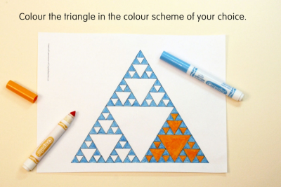 SIERPINSKI TRIANGLE – Fractals, Colour Schemes, Repetition - Step Three