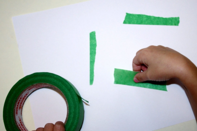 TAPE ART – Exploring Paint, Colours, Shapes and Textures - Step One