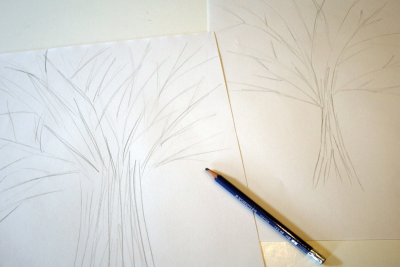 TREE SILHOUETTE – Warm and Cool Colours, Contrast - Step One