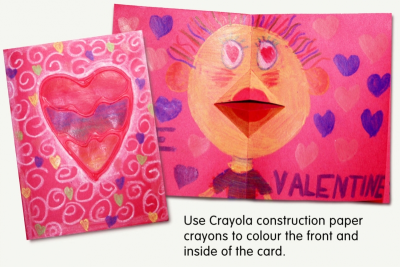 TALKING MOUTH VALENTINE CARD –Repetition, Pattern, Colour - Step Five