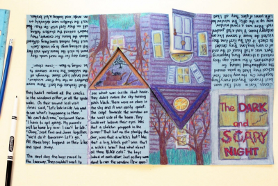 HAUNTED HOUSE TALES – Bookmaking, Shape, Contrast - Step Nine