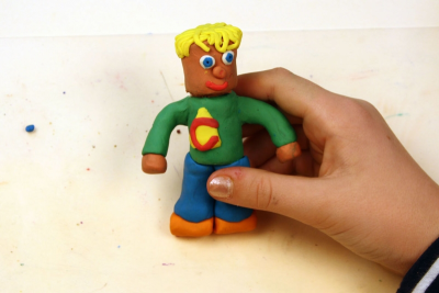 CYLINDER MAN – Modeling Clay Figure - Step Four