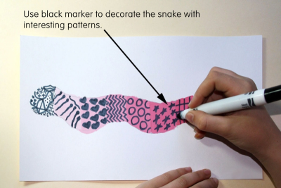 VALUE SCALE SNAKE –Mixing Tints - Step Four