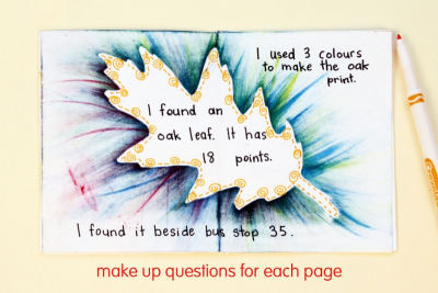 MY LITTLE LEAF BOOK – Shape, Contrast, Pattern - Step Eight