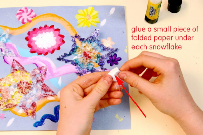 SNOWFLAKE MELODY – Painting To Music, Geometric Design - Step Six