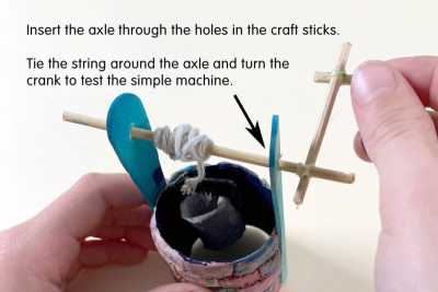 MINIATURE WISHING WELL – Texture, Colour Mixing, Simple Machines - Step Eight