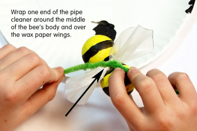 BUZZY BEE – Creating a Kazoo Puppet - Step Seven