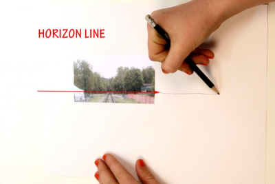 ALL ABOARD! –One-Point Perspective, Space, Colour - Step Four