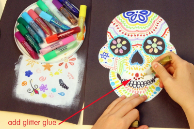 DAY OF THE DEAD SUGAR SKULL – Symmetry, Repetition, Colour - Step Seven
