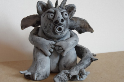 CLAY GARGOYLE – Form, Proportion, Exaggeration - Step Seven