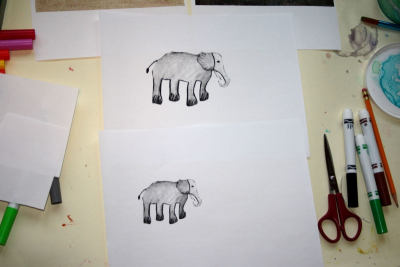 DRAWING ANIMALS IN THE WILD – Illusion of Depth - Step Nine